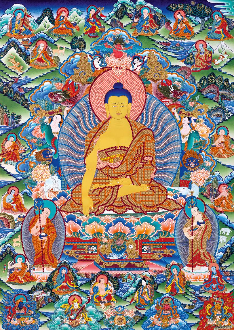Купить вышивку бисером будда
