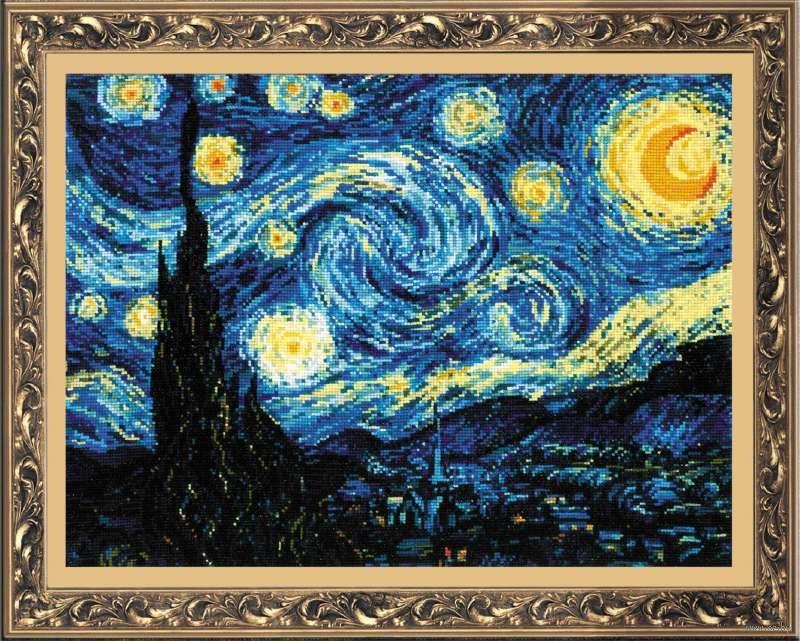 Вышивка звездная ночь ван гог купить