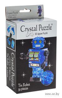 """Пазл-головоломка """"Crystal Puzzle. Робот cиний"""" (39 элементов)"""