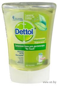 """Сменный блок для диспенсера """"DETTOL"""" с ароматом зеленого чая и имбиря (250 мл)"""