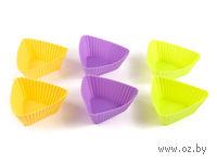 Набор форм для выпекания силиконовых (6 шт, 8,5*8,8*3,5 см)