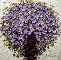 """Картина по номерам """"Фиолетовый букет"""" (400х400 мм)"""