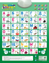 """Электронный озвученный плакат """"Говорящая азбука"""" (8 режимов)"""