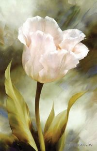 """Вышивка крестом """"Белый тюльпан"""""""