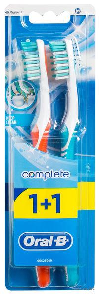 """Зубная щетка Oral-B Комплекс """"Глубокая Чистка"""" (средней жесткости, 2 штуки)"""