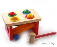 """Развивающая деревянная игрушка """"Стучалка-горка-шарики"""""""
