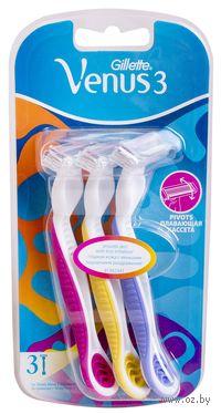 Станок для бритья одноразовый Gillette Simply Venus 3 Plus (3 штуки)