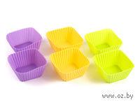 Набор форм для выпекания силиконовых, 6 шт., 6,5*6,5*3,2 см (арт. KL40B041)