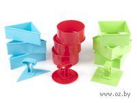 Набор форм для вырезания теста пластмассовых в ассортименте (3 шт, 10*4,5 см)