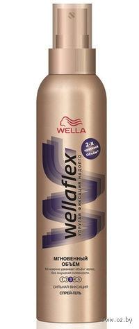 """Спрей-гель Wellaflex сильной фиксации """"Мгновенный объем"""" (150 мл)"""