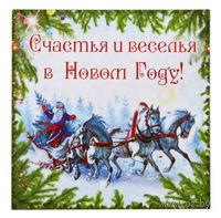 """Магнит """"Счастья и веселья в Новом году"""" (6х6 см)"""