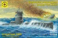 """Немецкая подводная лодка """"тип XXIII"""" (масштаб: 1/144)"""