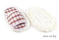 Набор приспособлений текстильных для натирания пола (2 шт; 25,5х12 см)