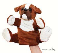 """Мягкая игрушка на руку """"Бульдог"""" (27 см)"""