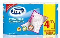 """Бумажные полотенца ZEWA """"Декор"""" (цвет: бело-розовый; 4 рулона)"""