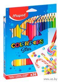 """Цветные карандаши """"Color Peps"""" (36 штук)"""