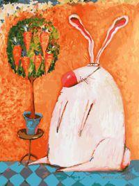 "Картина по номерам ""Счастливый кролик"" (400х300 мм)"
