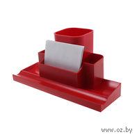 """Органайзер для рабочего стола """"Башня"""" (красный)"""