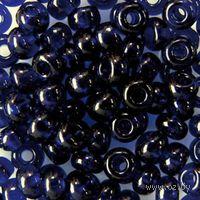 Бисер прозрачный №30110 (темно-синий)