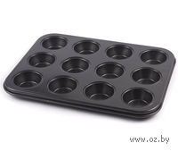 Форма для выпекания кексов металлическая антипригарная (265х195х20 мм)