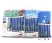 Занавес-шторка для ванной пластмассовая (180х180 см)