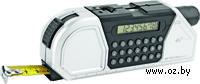 Мультиинструмент (рулетка на 2,5 м. с фиксатором, линейка, уровень, калькулятор, градуированный проектор для разметки линий)