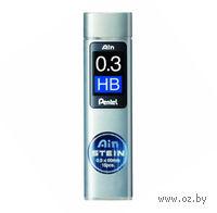 """Грифели для автоматического карандаша """"Pentel AIN STEINE"""" (твердость: HB; 0,3 мм)"""