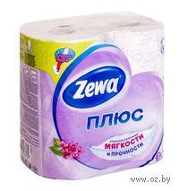 "Туалетная бумага Zewa Плюс ""Сирень""(цвет: белый; 4 рулона)"