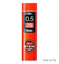 "Грифели для автоматического карандаша ""Pentel AIN STEINE"" (Твердость: 2B; 0,5 мм)"