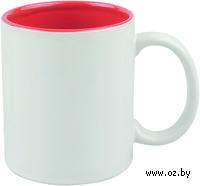 Кружка (320 мл, цвет: белый, красный)