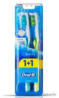 "Зубная щетка Oral-B ""3D White Отбеливание""  (средней жесткости,1 + 1 шт)"