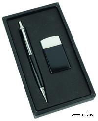 Набор. Ручка, зажигалка (черный)