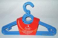 Набор вешалок для одежды пластмассовых (5 шт)
