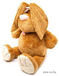 """Мягкая игрушка """"Кролик коричневый сидячий"""" (40 см)"""