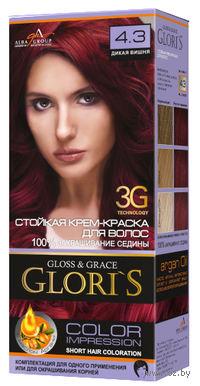 Крем-краска для волос (тон: 4.3, дикая вишня)