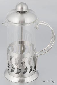 Кофейник с прессом, стекло/металл, 600 мл (арт. YM-028/600)