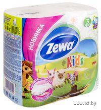 """Туалетная бумага Zewa Deluxe """"Kids""""(4 рулона)"""