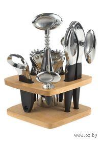 Набор кухонных инструментов металлических на подставке (4 предмета, арт. KL38D24)