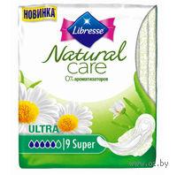 """Женские гигиенические прокладки Libresse """"Natural Care Ultra Super"""" (9 шт)"""