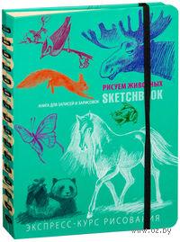 SketchBook. Визуальный экспресс-курс по рисованию. Животные (бирюзовый)