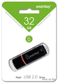 USB Flash Drive 32Gb SmartBuy Crown (Black)