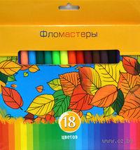 """Фломастеры """"Солнечный креатив"""" в картонной коробке (18 цветов)"""
