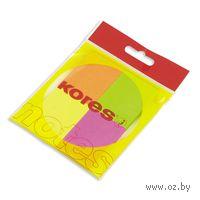 """Бумага для записей на клейкой основе """"Kores"""" (4 цвета неон; 40 x 50 мм; 200 листов)"""