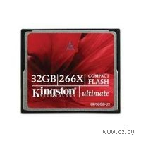 Карта памяти Compact Flash 32Gb Kingston 266x