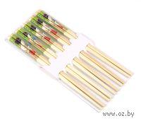 Набор палочек для еды деревянных (5 пар)
