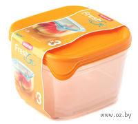 """Набор контейнеров пластмассовых """"Fresh 1,2 л; желтый)"""