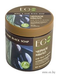 """Мыло для тела и волос """"Черное"""" (450 мл)"""