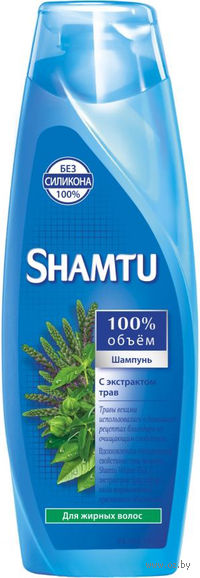 """Шампунь SHAMTU """"Травяной коктейль"""" для жирных волос (380 мл)"""