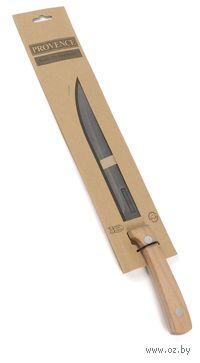 """Нож металлический с деревянной ручкой """"Provence"""" (31,5/19,5 см, арт. 261441)"""