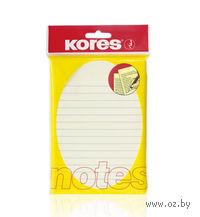 Бумага для заметок на клейкой основе (линованная; 100 листов)